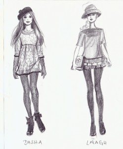 Pencil Sketches of Models