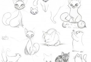 Cat Pencil Sketches