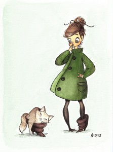 Girl & Cat in a boot