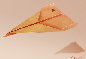 Paper Plane Illustration