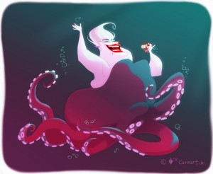 Digital Illustration of Ursula from The Little Mermaid