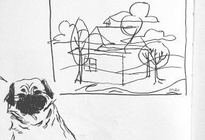 carolinschweizer-sketch-train-house-pug